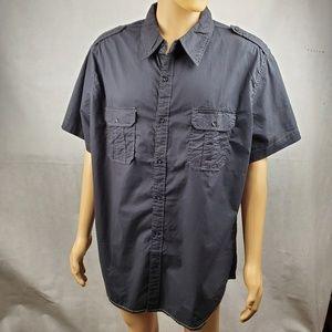 Arizona Jean Black Button Down Size XXL